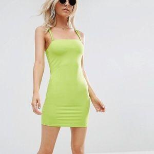 Double strap mini bodycon dress